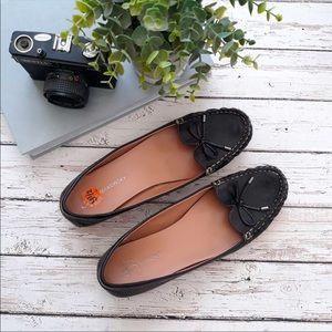 B MAKOWSKY Tassel Loafer Flats Black Size 9.5